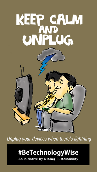 keep calm and unplug